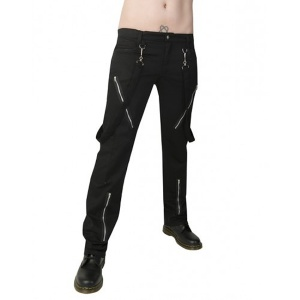 Punkhose Punk Pant Denim Black Pistol