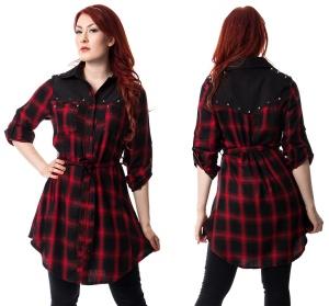 Kariertes Hemd Kleid Emily Dress Heartless