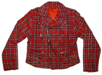Damen Jacke/Weste Karo red Tartan Dead Threads
