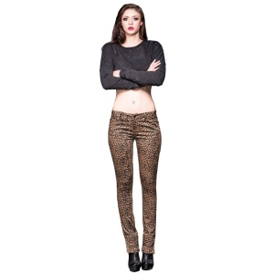 Damen Stretchjeans leopard Queen of Darkness
