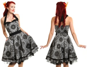 Alisa Dress Rockn Roll Kleid Bandana Muster Rockabella