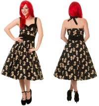 Rockabilly Kleid Voodoopuppe Banned