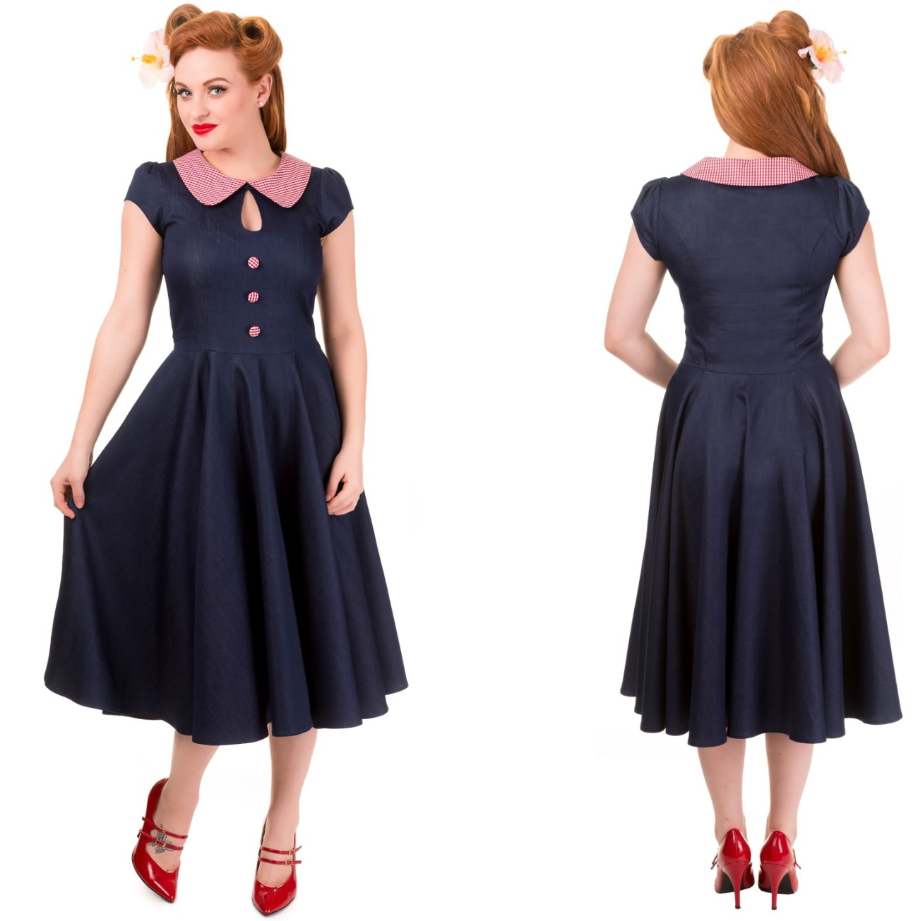 Blueberry Hill Dress Rock n Roll Kleid Banned - Banned Kleider ...