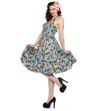Rockabilly Kleid Blumen Banned