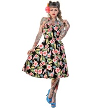 Petticoatkleid/Rock n Roll Kleid Banned Rockabilly