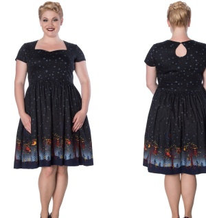 Lone Traveller Dress Kleid Übergröße Banned