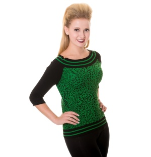 Green Leopard Damen Top Banned