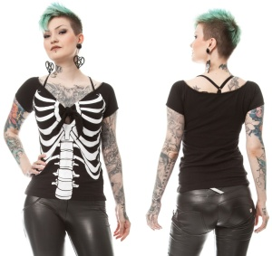 Skelett Top Boney Betty Rockabella