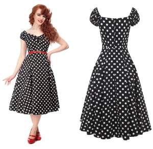 Petticoatkleid/Rock n Roll Kleid Dolores Doll Collectif
