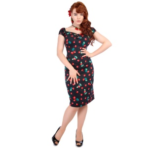 Pencil Dress/Bleistiftkleid Dolores Cherry Collectif Rockabi