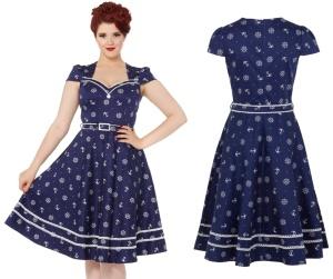 Rockn Roll Kleid Nautical Dress Voodoo Vixen