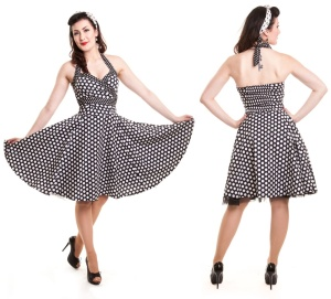 Dolly Dress Rock n Roll Kleid gepunktet Rockabella