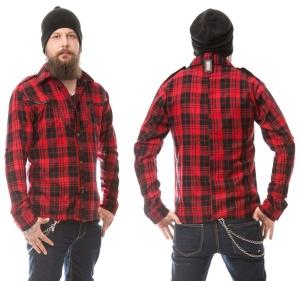 Herren Langarmhemd Holzfällerhemd Vixxsin