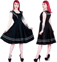 Rockn Roll Kleid Sailor H&R London Rockabilly