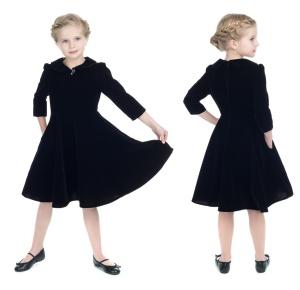 Samtkleid Swingkleid Kinder H&R London
