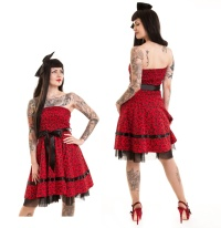Rockabilly Kleid Herzen Holly