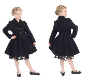 Kinder Mantel im Sixtieslook