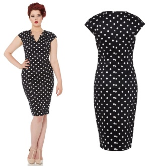 Kensington Kleid gepunktet Pencil Dress Voodoo Vixen