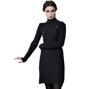 Military Sailor Strickkleid Voodoo Vixen