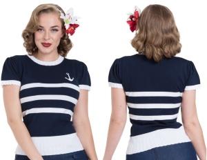 Damen Vintage Shirt Anker Voodoo Vixen
