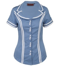 Sixties Sailor Bluse Voodoo Vixen