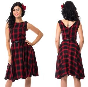 Swing Kleid karo Rockabella
