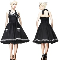 Motley 50 s Dress/Rock n Roll Kleid Anker Hellbunny