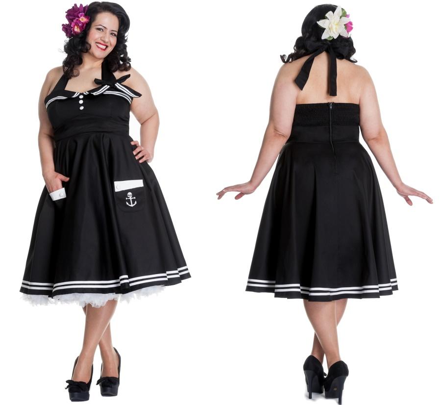 Motley 50er Kleid Übergrösse Hellbunny
