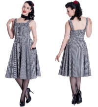 Petticoatkleid/Rock n Roll Kleid Chantal kariert Hellbunny