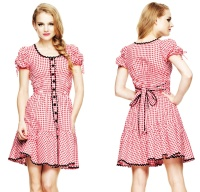 Maude Dress kariert Hellbunny