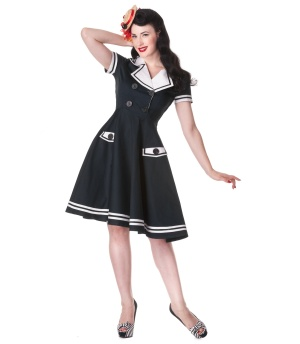 Rock n Roll Kleid/Matrosenkleid Hellbunny