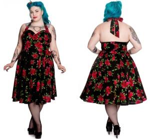 Petticoatkleid/Rock n Roll Kleid Cannes Plussize Hellbunny