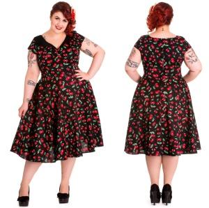 Petticoatkleid/Rock n Roll Kleid Cherry Hellbunny Plussize