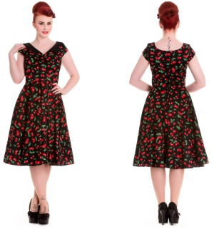 Petticoatkleid/Rock n Roll Kleid Cherry Hellbunny Rockabilly