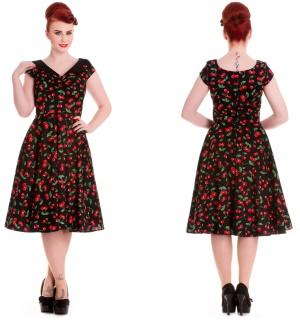 Petticoatkleid/Rock n Roll Kleid Kirschen Hellbunny Rockabilly