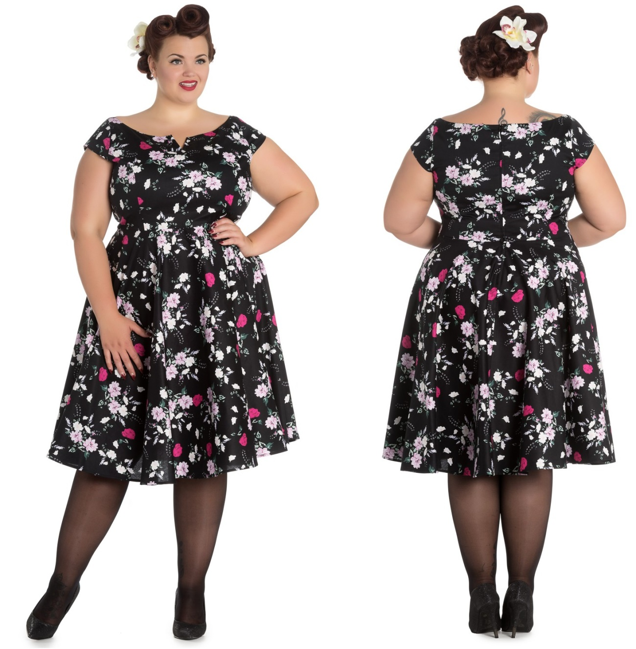 218856f7125c Petticoatkleid Rock n Roll Kleid Belinda Hellbunny Plussize ...