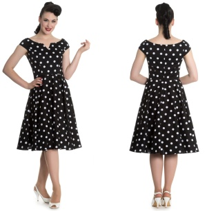 Nicky Dress Rock n Roll Kleid Rockabilly Kleid gepunktet Hellbunny