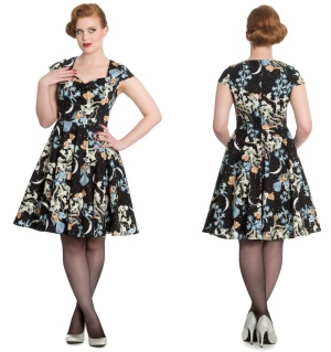 Moonlight Dress Rockn Roll Kleid Hellbunny