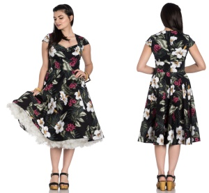 Kalei Dress Rock n Roll Kleid Hellbunny