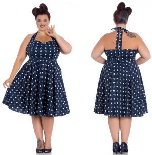 Petticoatkleid/Rock n Roll Kleid Mariana Plussize Hellbunny