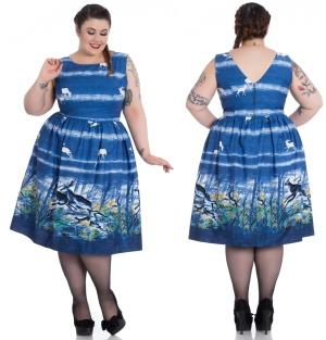 Audrey Hepburn Kleid Rockn Roll Kleid Montana Hellbunny Plus