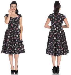 Stevie Dress Rock n Roll Kleid Rockabilly Kleid Hellbunny