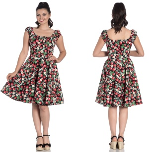 Strawberry/Erdbeere Sundae Mid Dress Rock n Roll Kleid Hellbunny