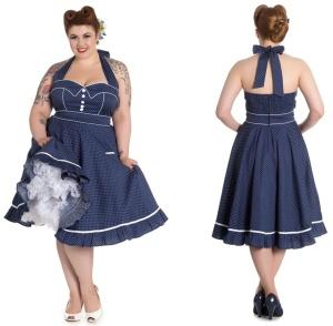 Rockabilly Kleid Vanity Übergrösse Hellbunny