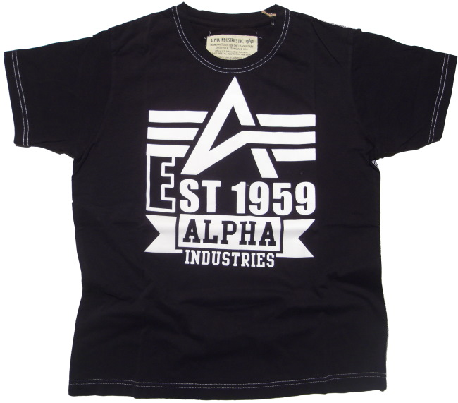 Alpha Industries T-Shirt White Print T