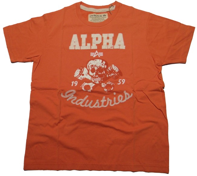 Alpha Industries T-Shirt Piston Skull