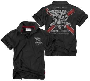 Dobermans Aggressive Poloshirt Nordic Division Company Adlermotiv