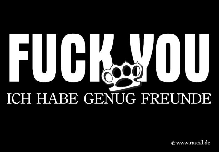 Aufkleber Fuck You - gratis