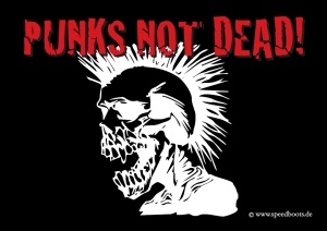 Aufkleber Punks Not Dead - gratis