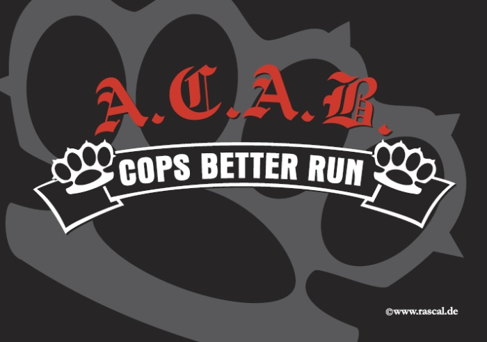 Aufkleber Cops better run 10er Pack